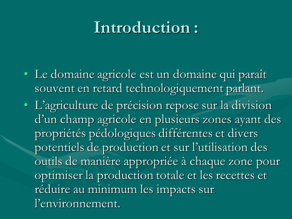 Introduction : Le domaine agricole est un domaine qui paraît souvent en retard technologiquement parlant.