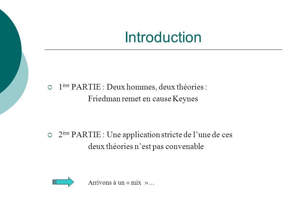 Introduction 1ère PARTIE : Deux hommes, deux théories :