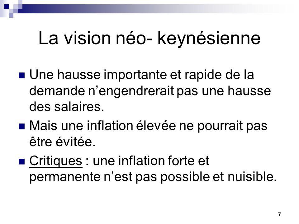 La vision néo- keynésienne