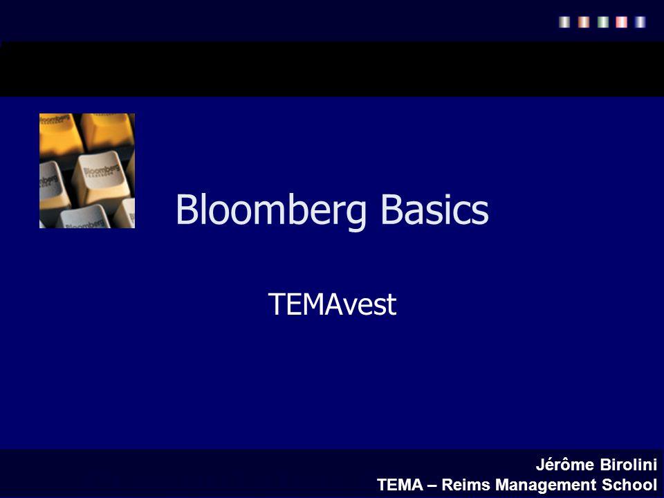 Bloomberg Basics TEMAvest