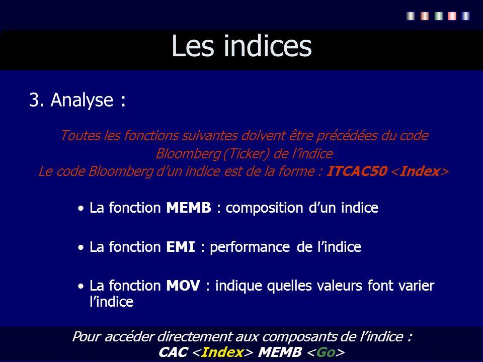 Les indices 3. Analyse : La fonction MEMB : composition d'un indice
