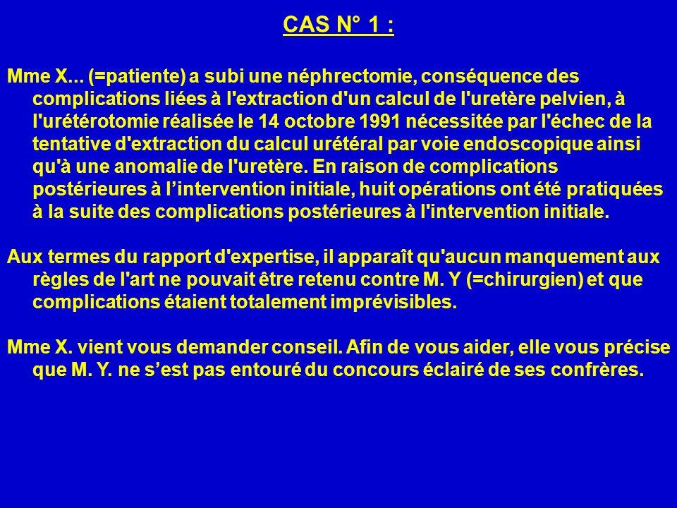 CAS N° 1 :