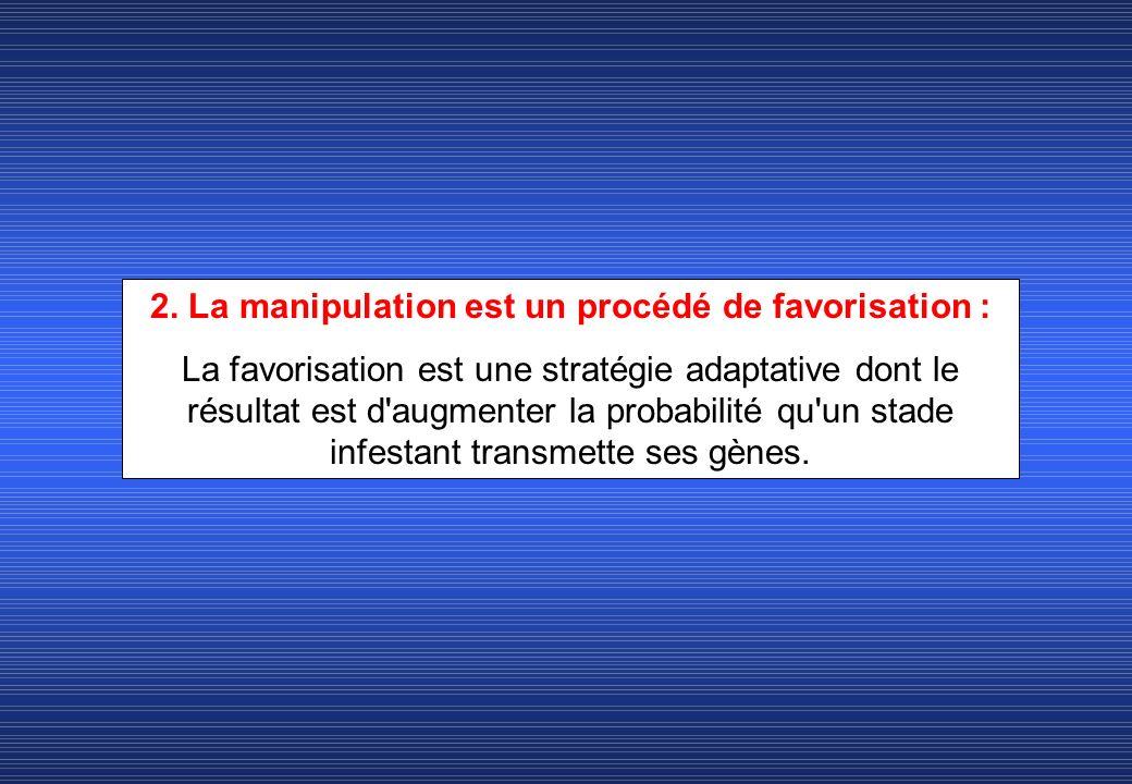 2. La manipulation est un procédé de favorisation :