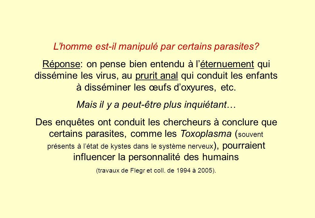 L'homme est-il manipulé par certains parasites