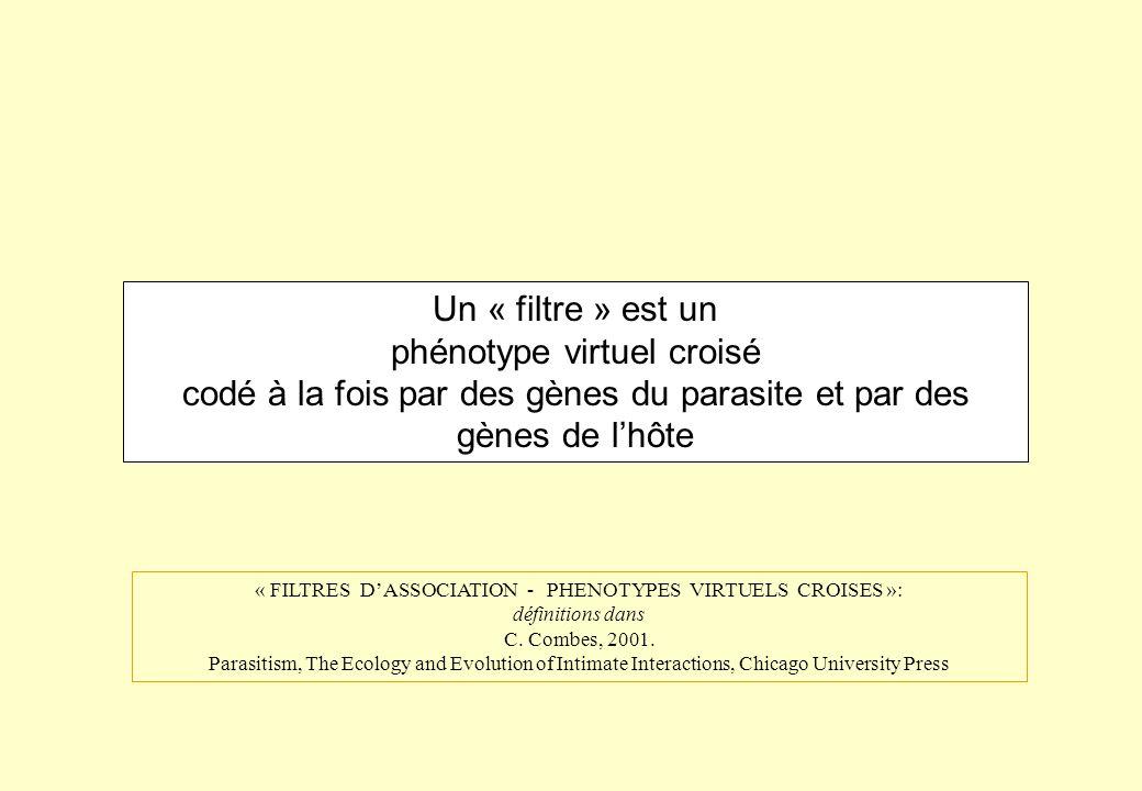 « FILTRES D'ASSOCIATION - PHENOTYPES VIRTUELS CROISES »: