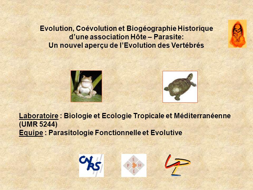 Evolution, Coévolution et Biogéographie Historique