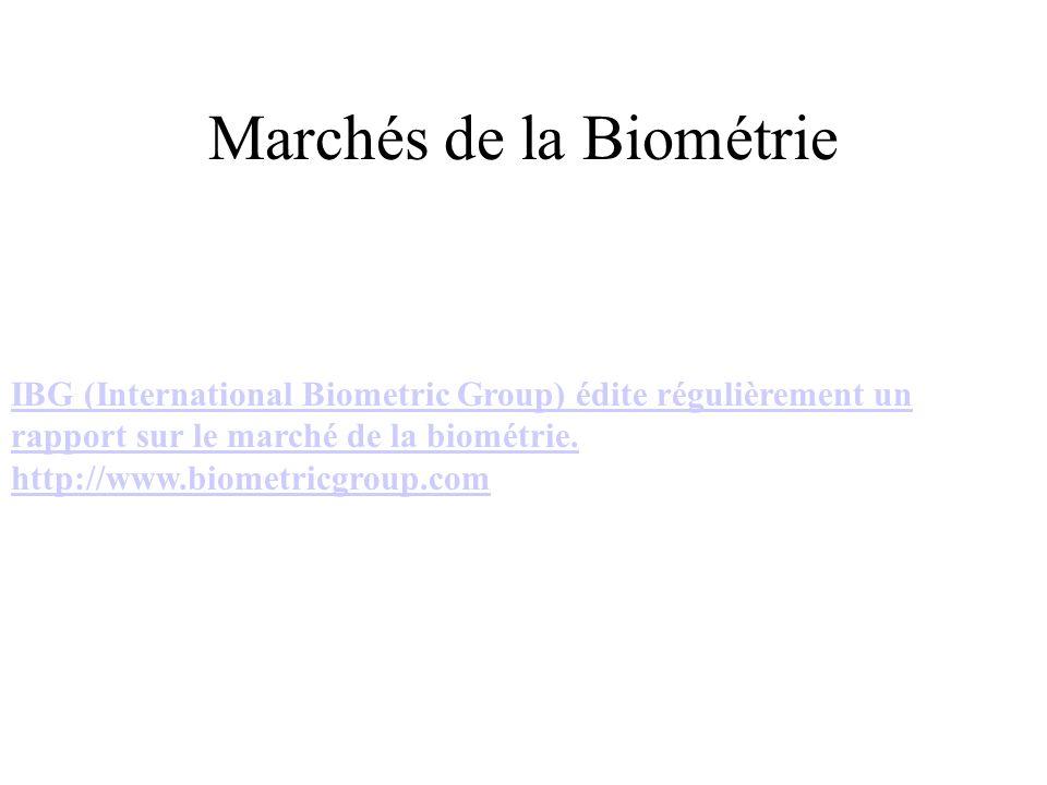 Marchés de la Biométrie