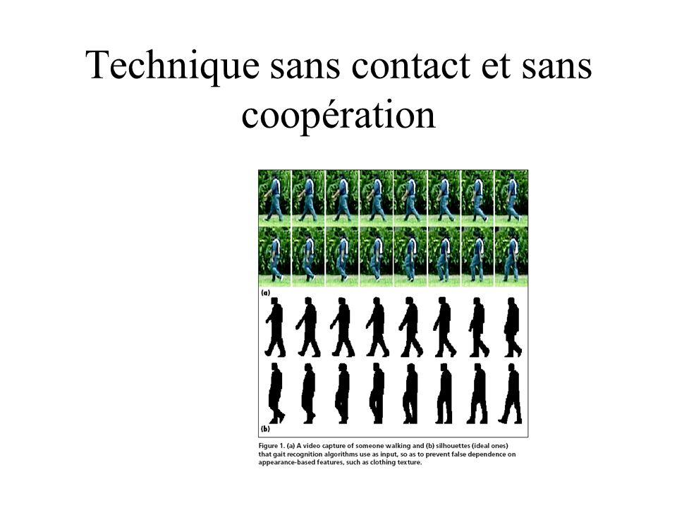 Technique sans contact et sans coopération