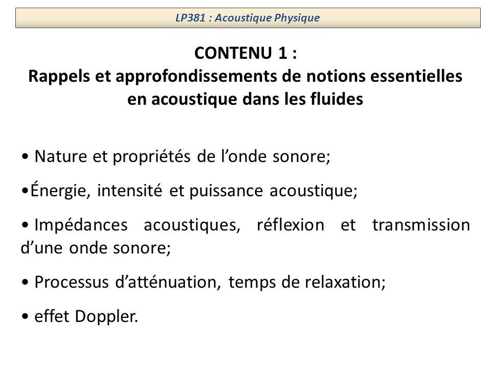 LP381 : Acoustique Physique
