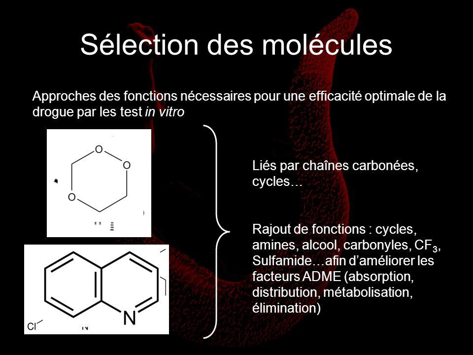 Sélection des molécules