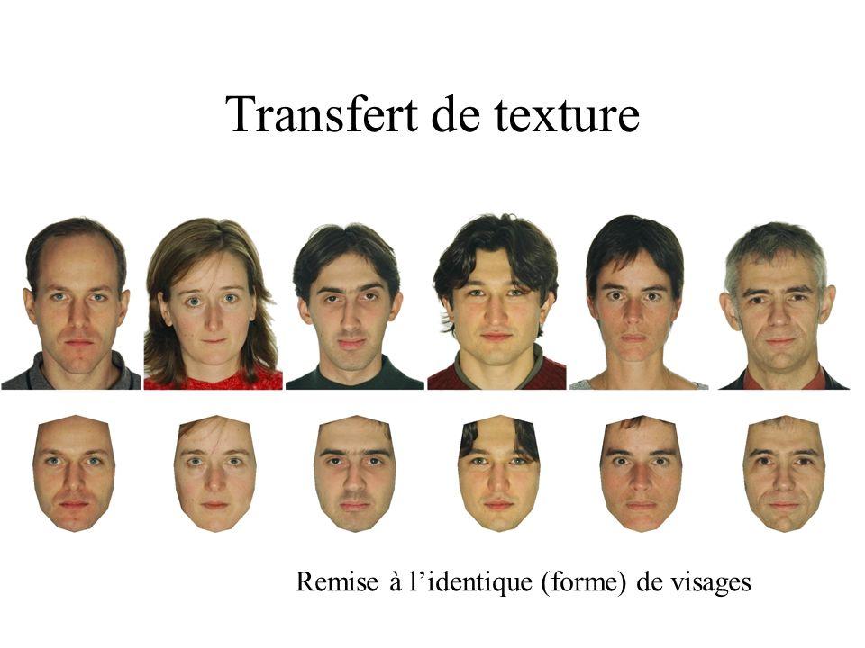 Transfert de texture Remise à l'identique (forme) de visages