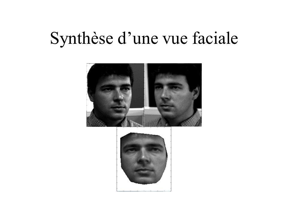 Synthèse d'une vue faciale