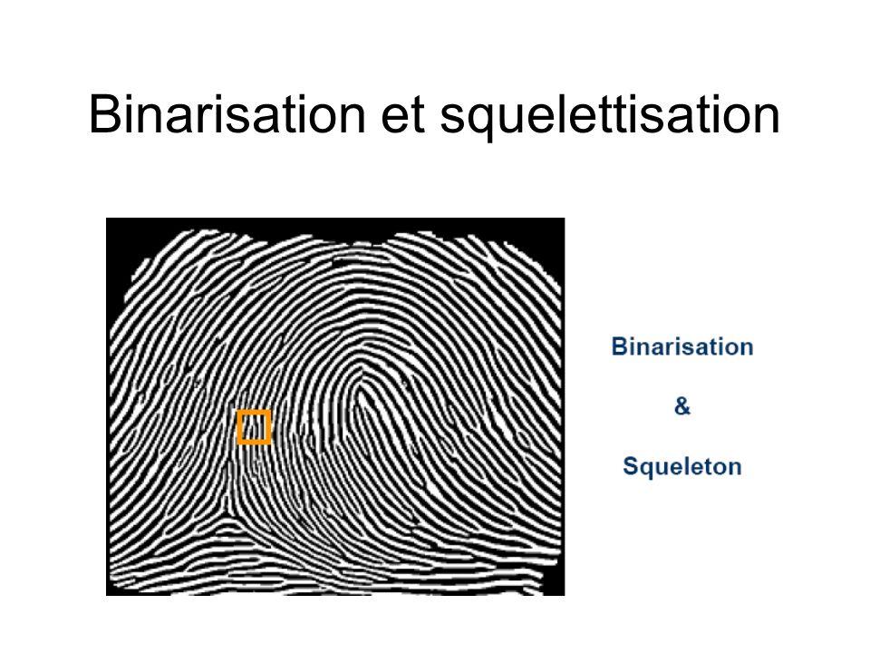 Binarisation et squelettisation