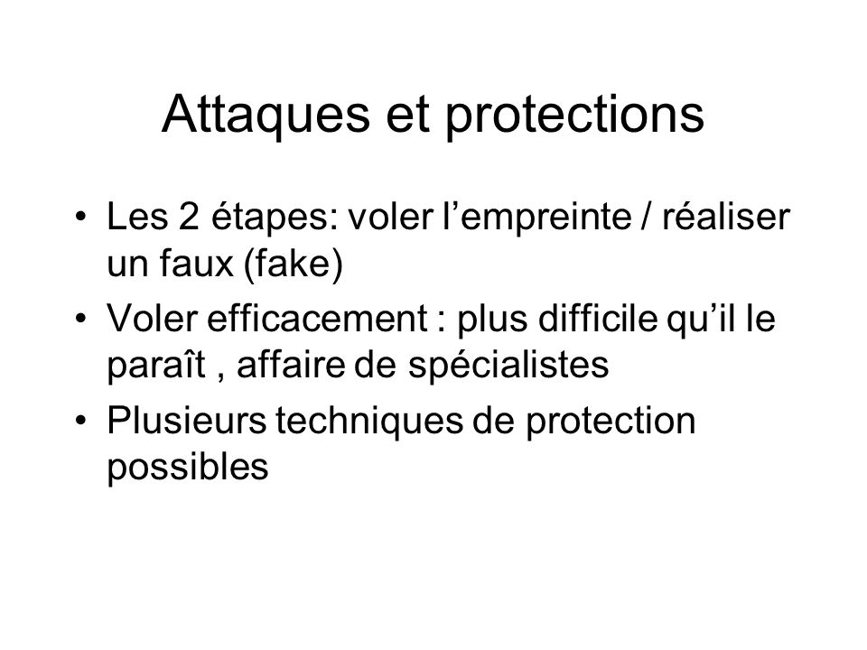 Attaques et protections