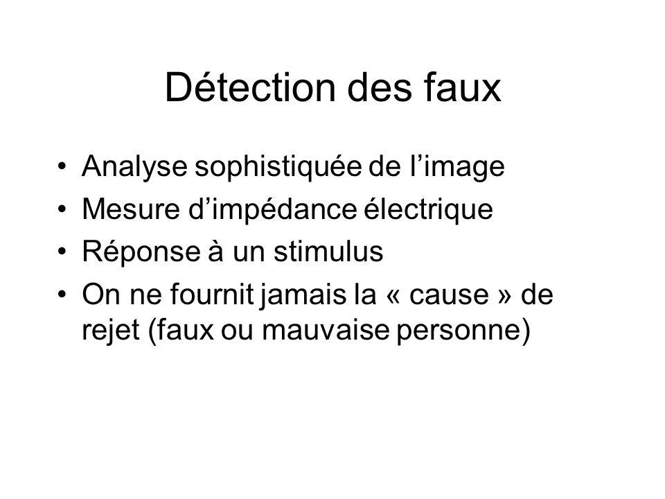 Détection des faux Analyse sophistiquée de l'image