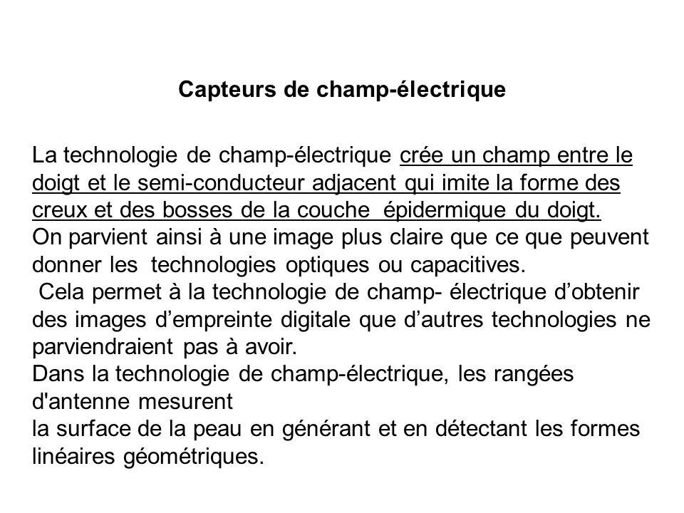 Capteurs de champ-électrique