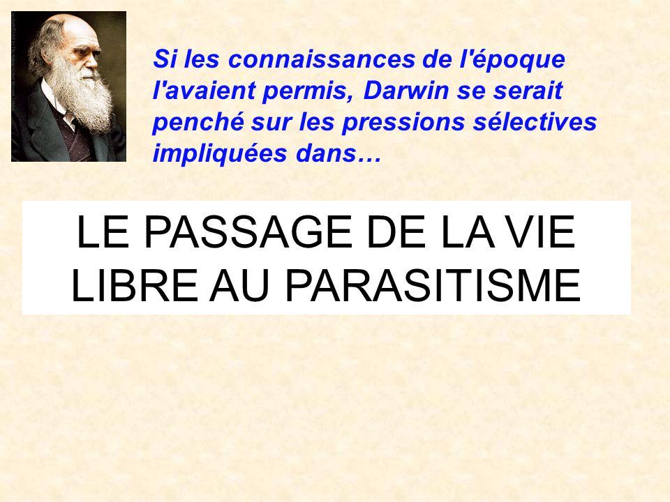 LE PASSAGE DE LA VIE LIBRE AU PARASITISME
