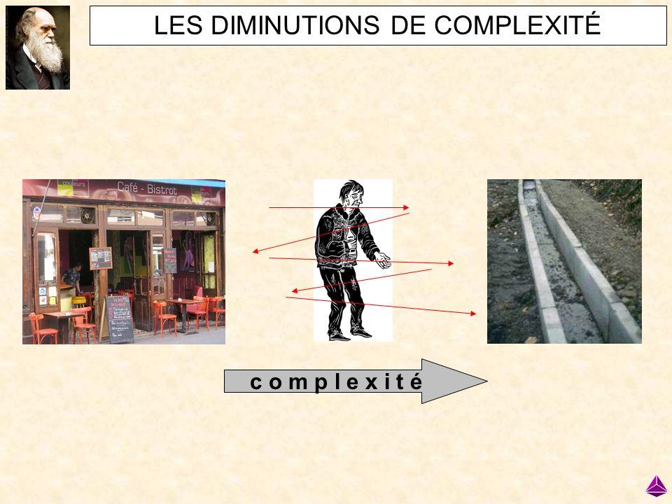 LES DIMINUTIONS DE COMPLEXITÉ