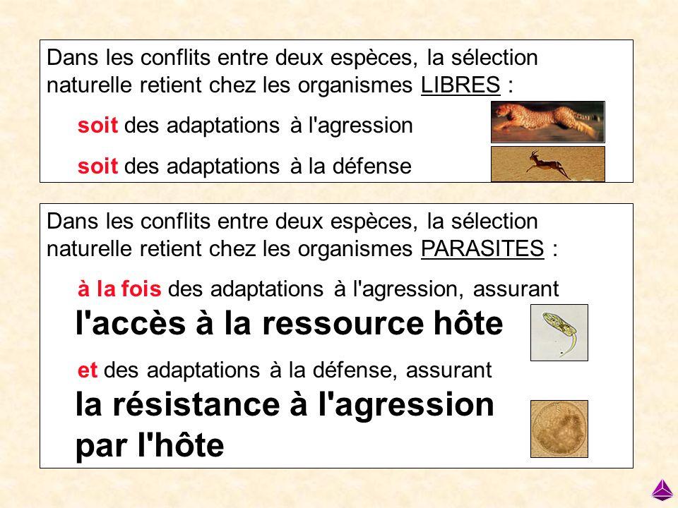l accès à la ressource hôte la résistance à l agression par l hôte