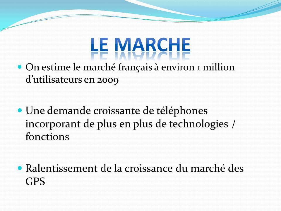 LE MARCHEOn estime le marché français à environ 1 million d'utilisateurs en 2009.