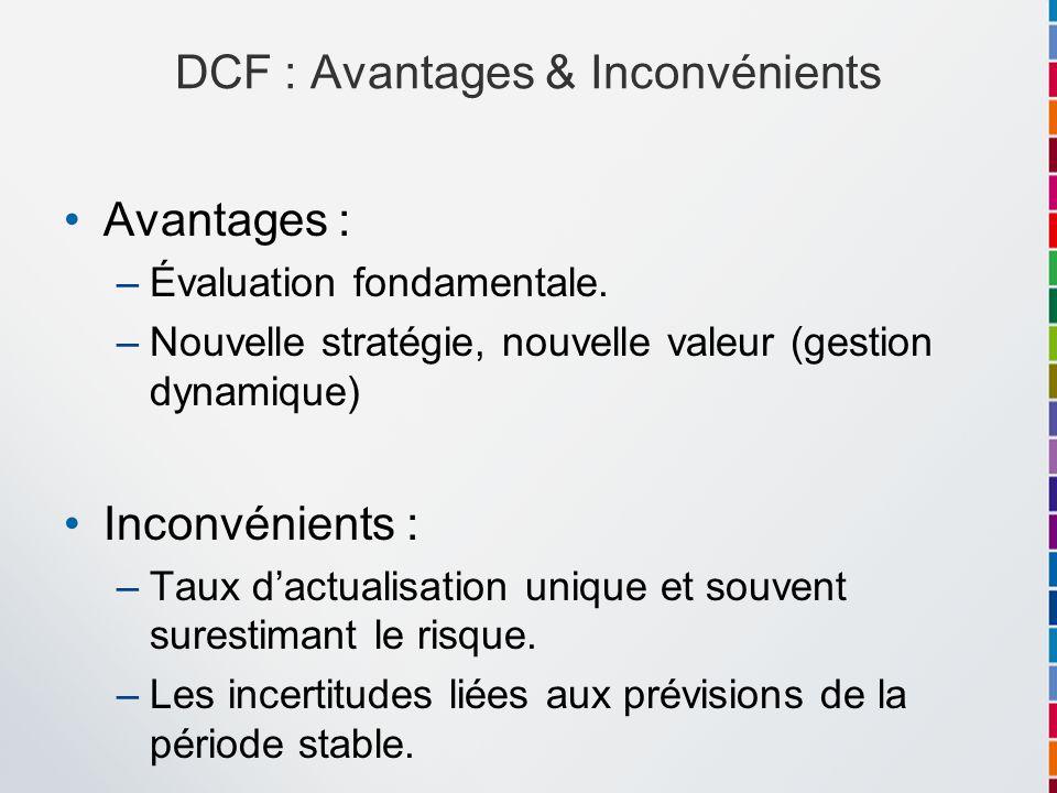 DCF : Avantages & Inconvénients