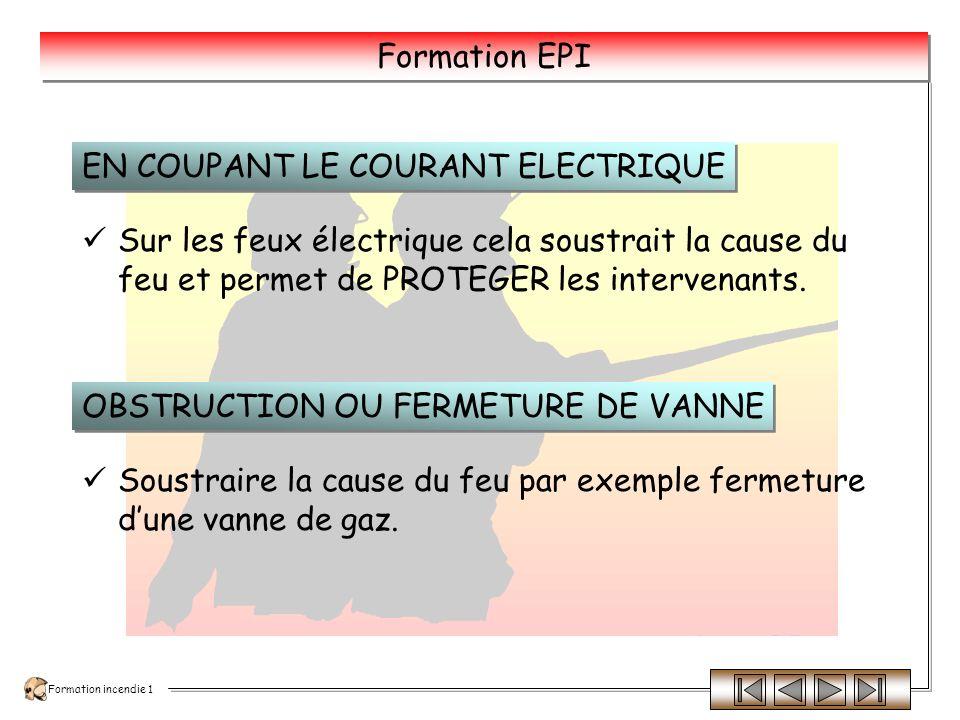 EN COUPANT LE COURANT ELECTRIQUE