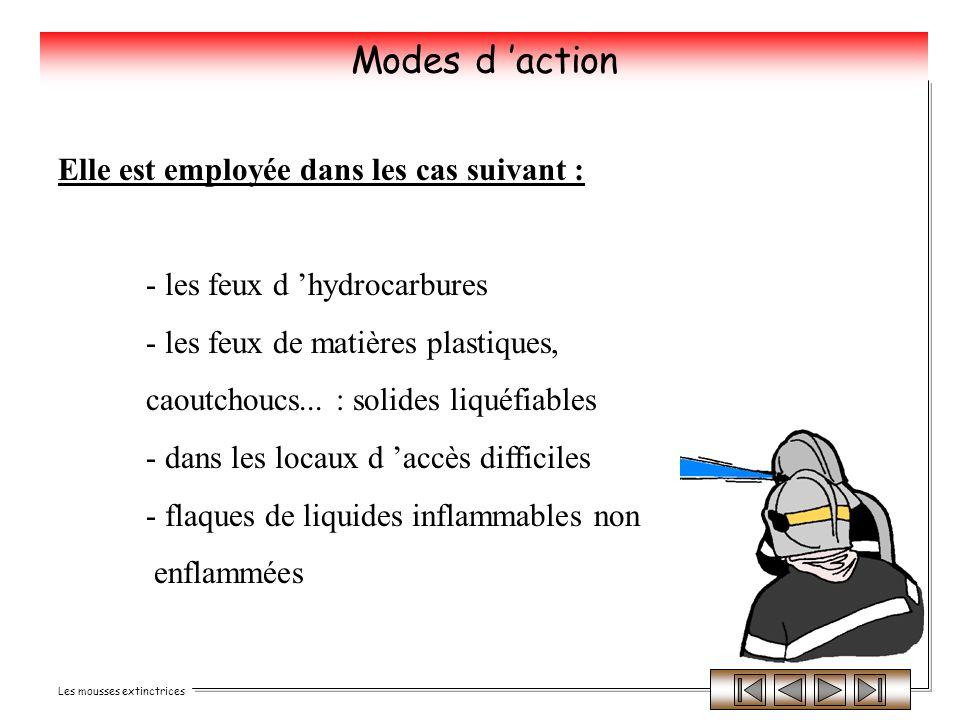 Modes d 'action Elle est employée dans les cas suivant :