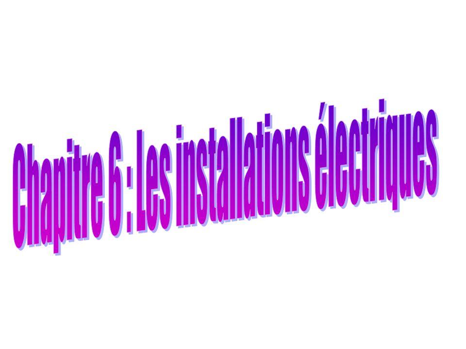 Chapitre 6 : Les installations électriques