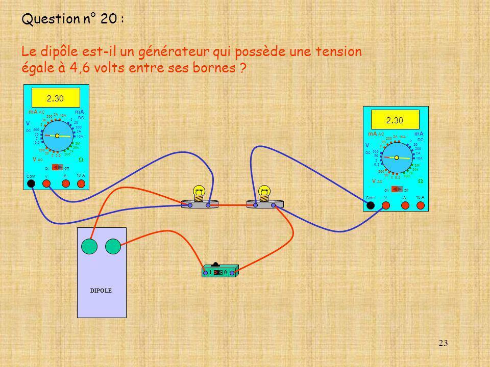 Le dipôle est-il un générateur qui possède une tension