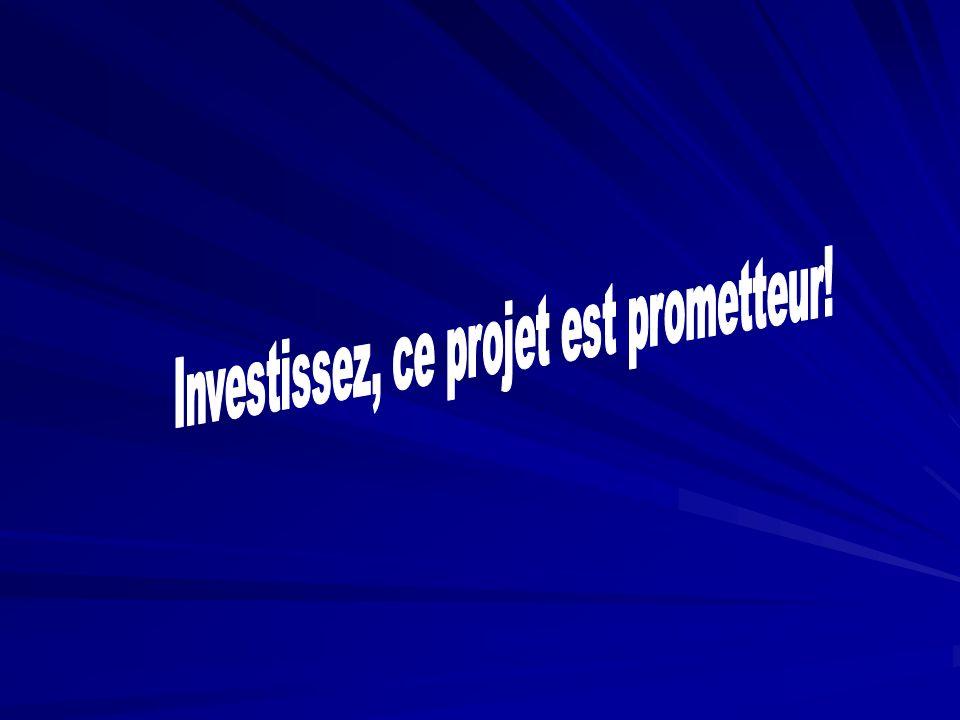 Investissez, ce projet est prometteur!