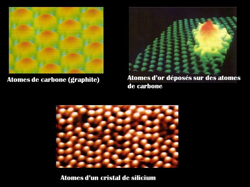 Atomes d'or déposés sur des atomes de carbone