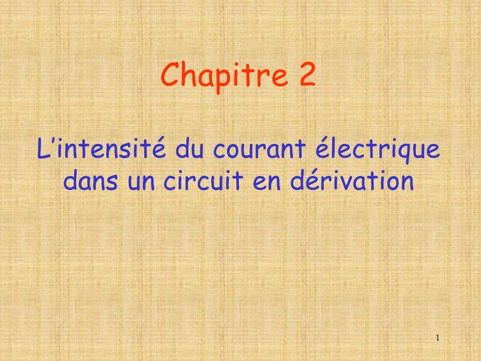 Chapitre 2 L'intensité du courant électrique