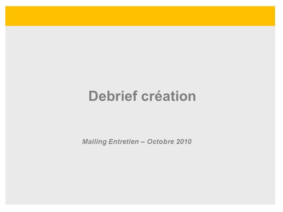 Mailing Entretien – Octobre 2010
