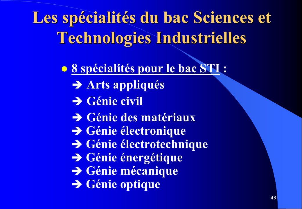 Les spécialités du bac Sciences et Technologies Industrielles
