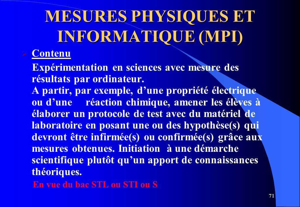 MESURES PHYSIQUES ET INFORMATIQUE (MPI)