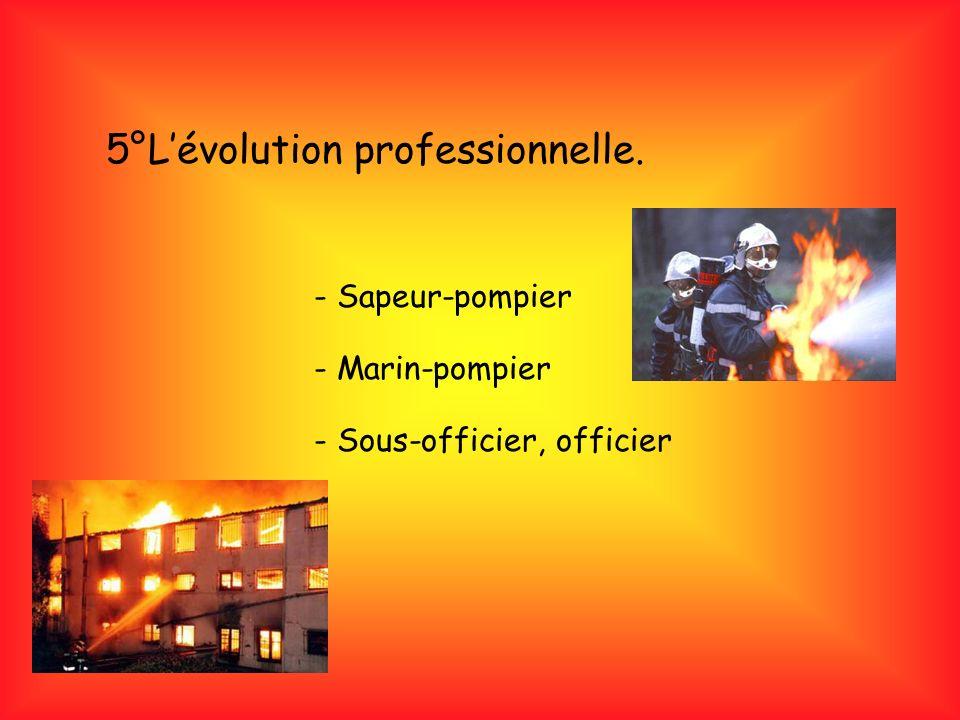 5°L'évolution professionnelle.