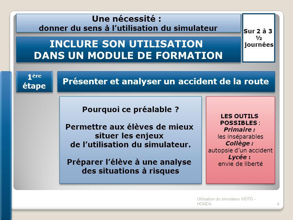 INCLURE SON UTILISATION DANS UN MODULE DE FORMATION