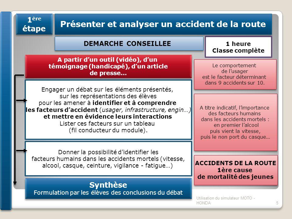 Présenter et analyser un accident de la route