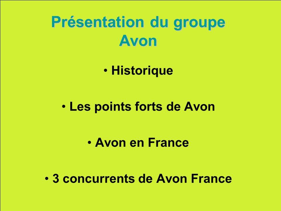Présentation du groupe Avon