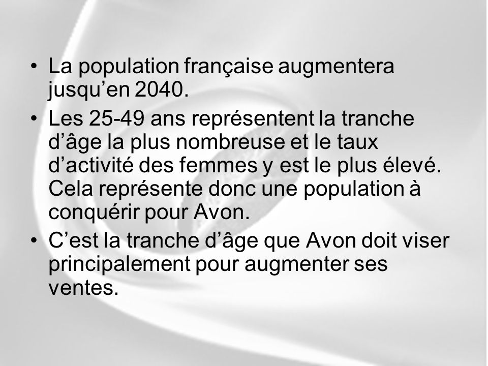 La population française augmentera jusqu'en 2040.