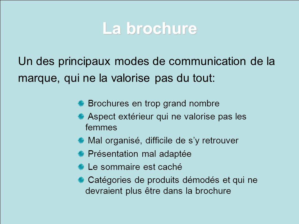 La brochure Un des principaux modes de communication de la