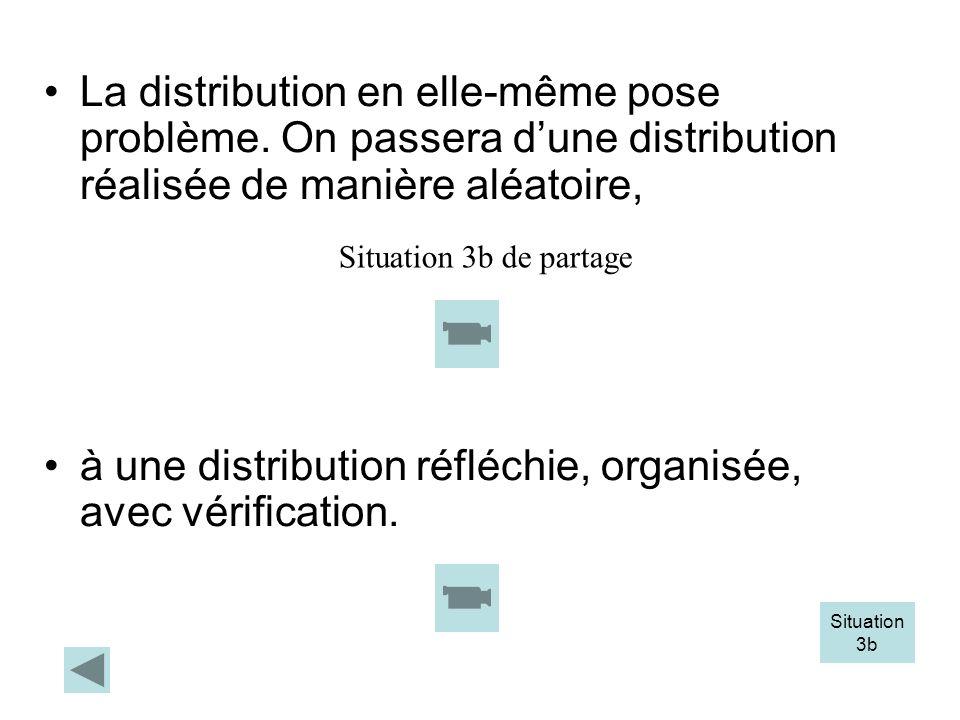 à une distribution réfléchie, organisée, avec vérification.