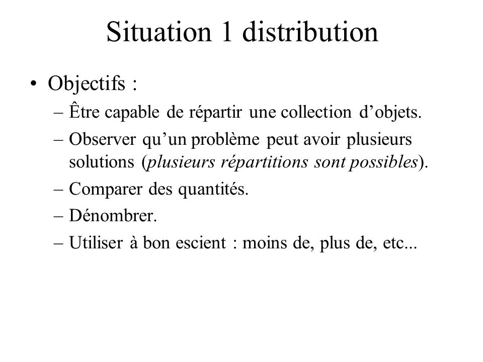 Situation 1 distribution