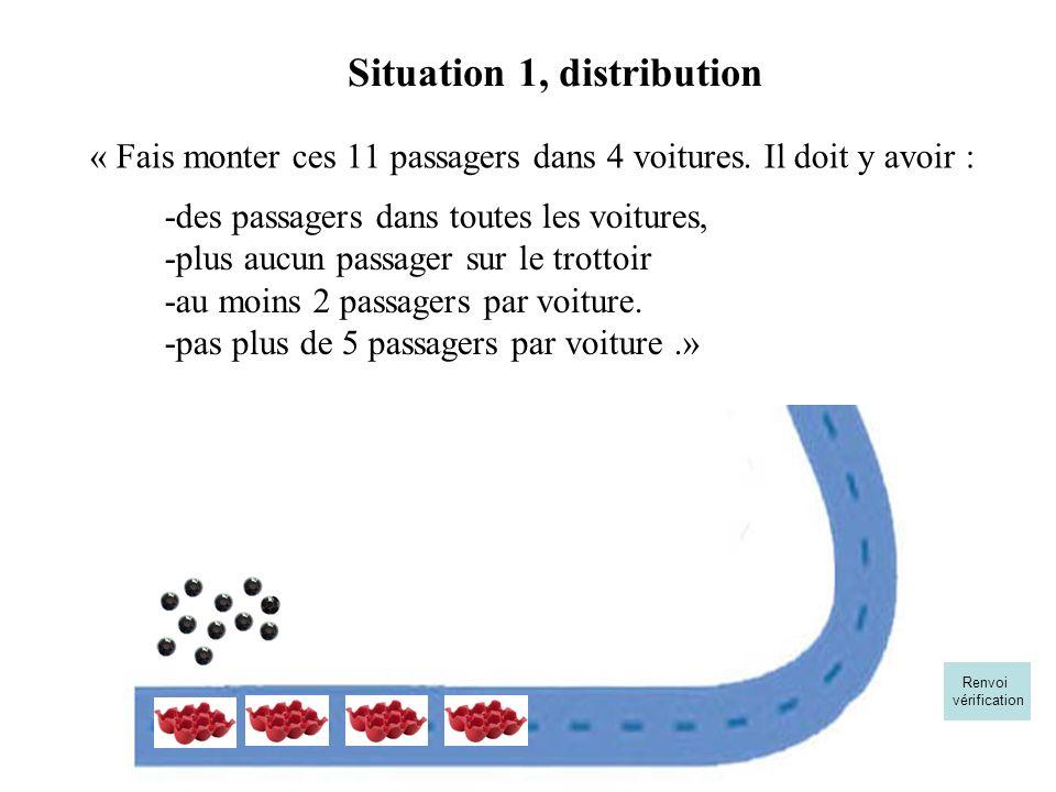 « Fais monter ces 11 passagers dans 4 voitures. Il doit y avoir :