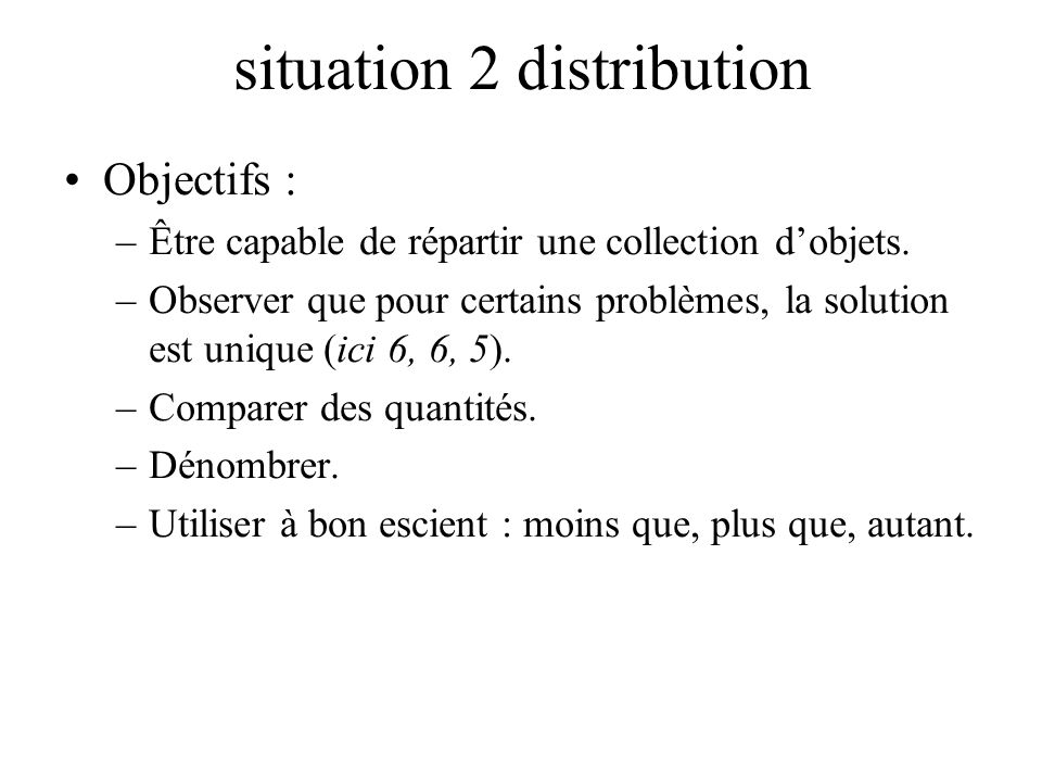 situation 2 distribution