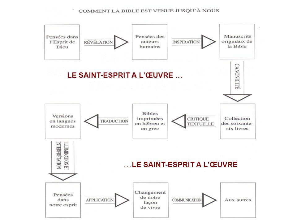 …LE SAINT-ESPRIT A L'ŒUVRE