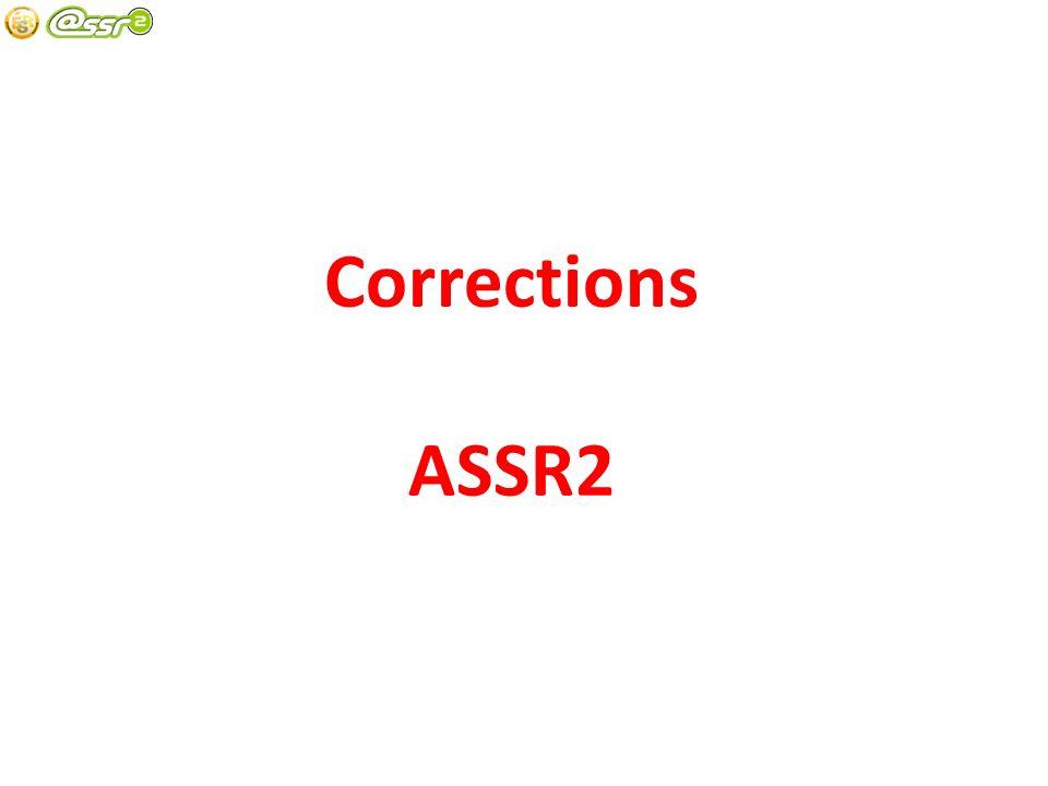 Corrections ASSR2