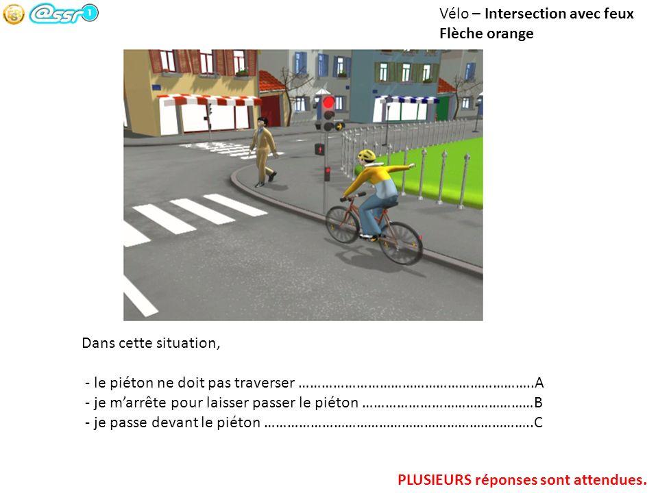 Vélo – Intersection avec feux