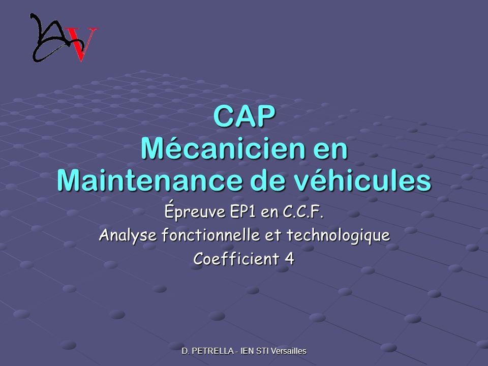 CAP Mécanicien en Maintenance de véhicules