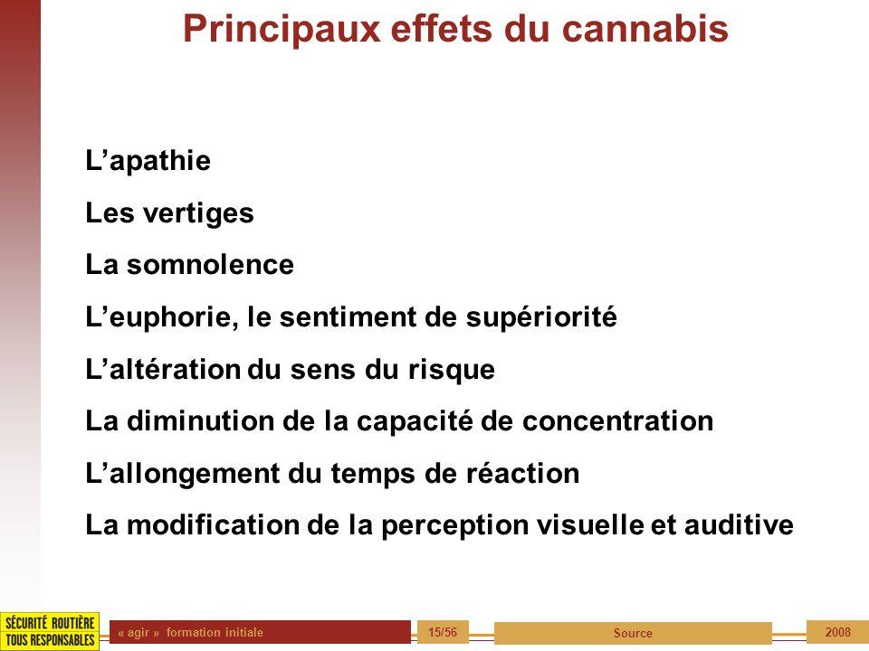 Principaux effets du cannabis